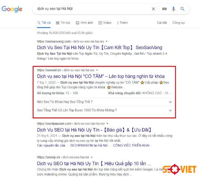 Dịch vụ seo tại Hà Nội